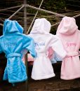 Personalised Baby Bathrobe