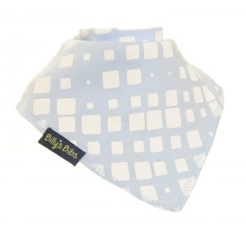 extra absorbent bandana bib blue and white square