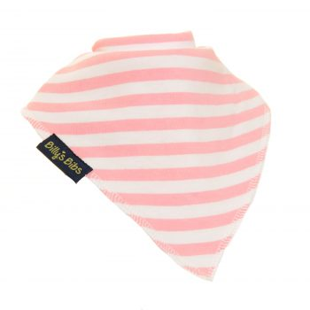 extra absorbent bandana bib Little pink Strip
