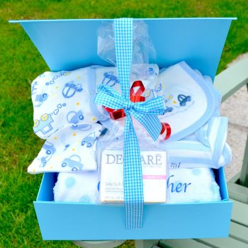 personalised Declare baby boy Hamper corporate baby gift