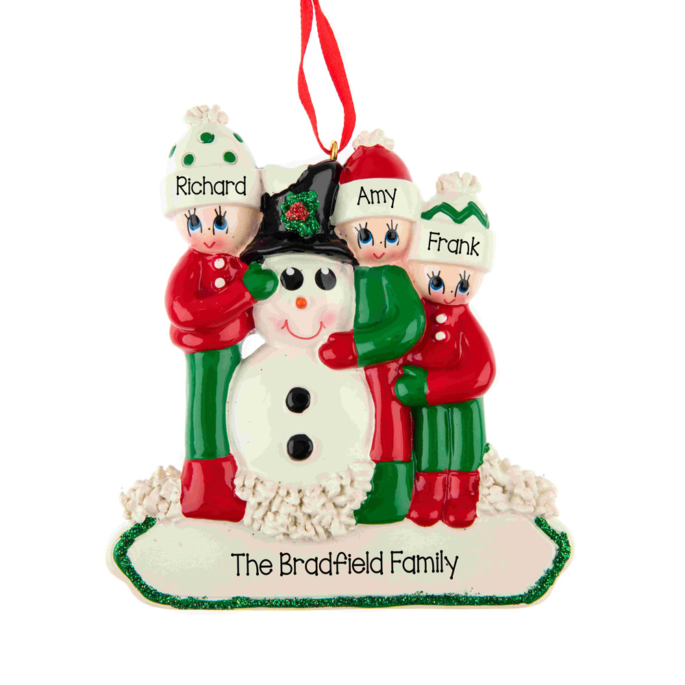 making a snowman 3 personalised hanging christmas decoration 19