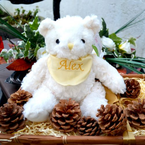 personalised Small neutral teddy
