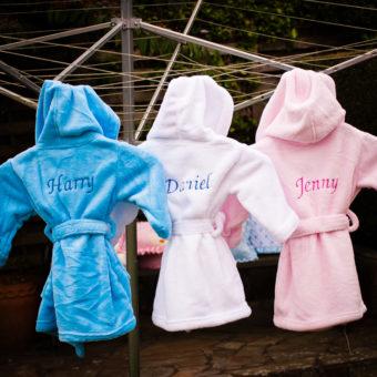 Personalised Baby Bathrobes