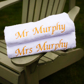 The Mr. and Mrs. towels