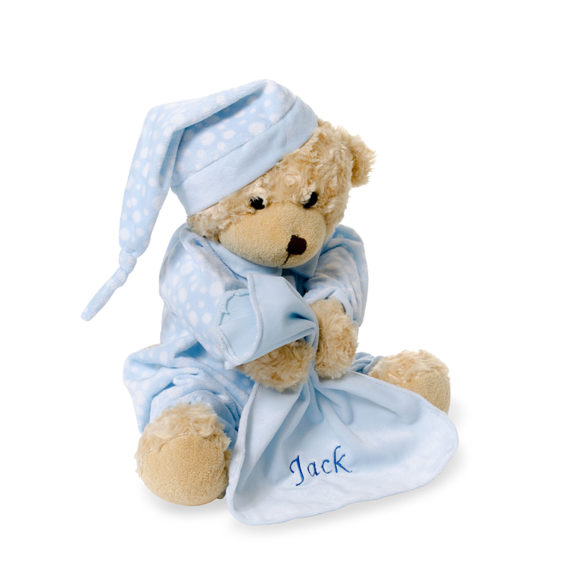personalised night time teddy