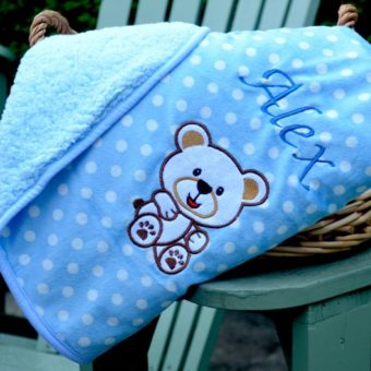 personalised teddy blanket