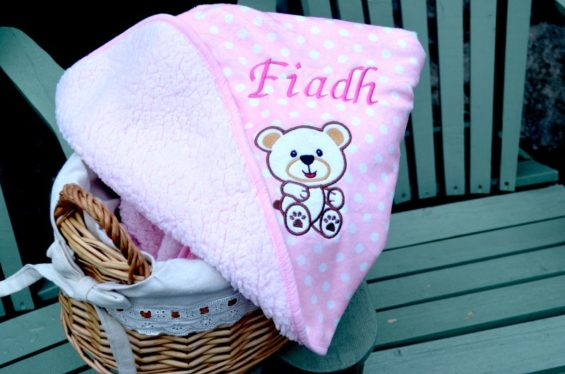 personalised teddy blanket