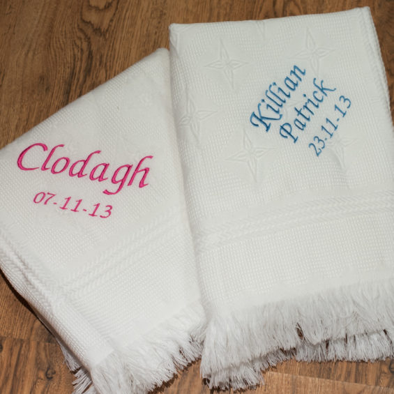 personal christening shawl