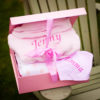baby hamper bathrobe bib blanket