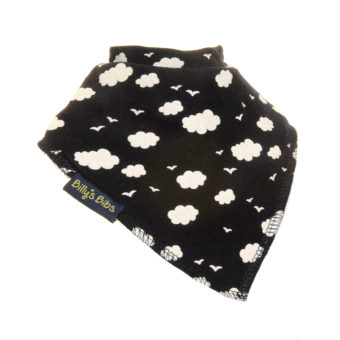 extra absorbent bandana bib navy cloud