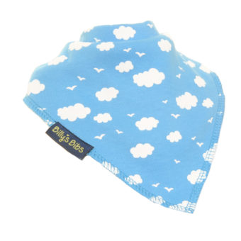 extra absorbent bandana bib blue cloud