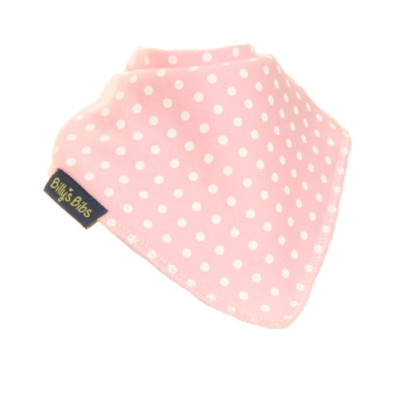 extra absorbent bandana bib pink polka dot