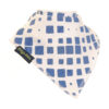 extra absorbent bandana bib navy and white square