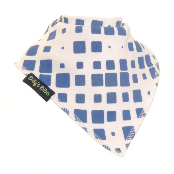 extra absorbent bandana bib navy and white square