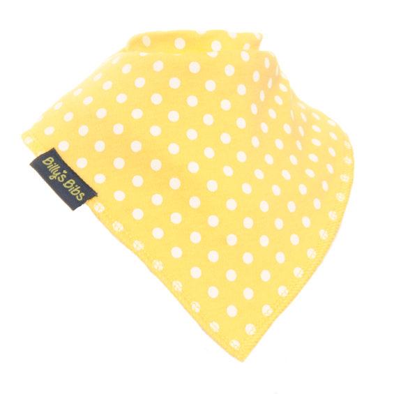 extra absorbent bandana bib Yellow polka dot