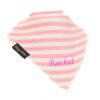 personalised extra absorbent bandana bib Light Pink Stripe
