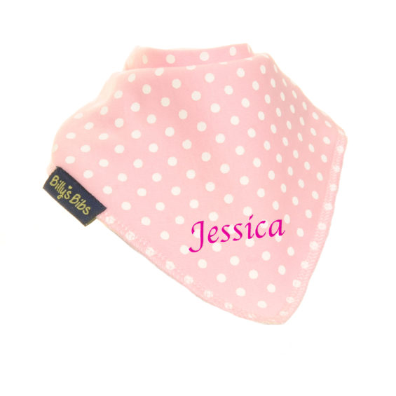personalised billy's bib extra absorbent Pink Polka
