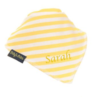 personalised billy's bib extra absorbent Yellow Stripe