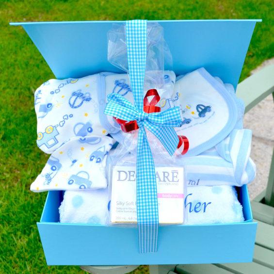 personalised Declare baby boy Hamper corporate baby gift