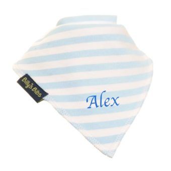 personalised billy's bib extra absorbent stripe blue