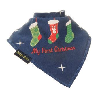 Christmas Stocking bib Navy