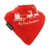 Christmas Santa Sleigh bib red