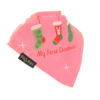 Christmas Stocking bib pink
