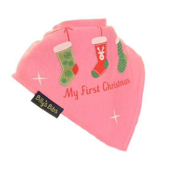Christmas Stocking bib pink
