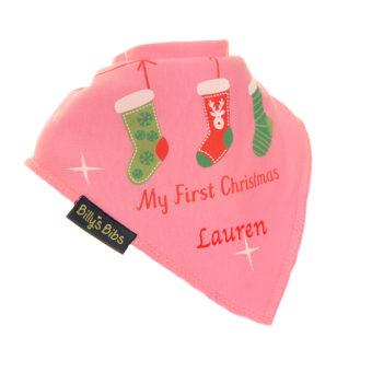 Personalised Christmas Stocking bib