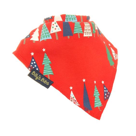 personalised Red Christmas Tree bib