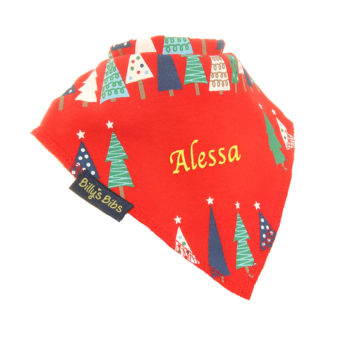 Personalised Christmas Tree bib