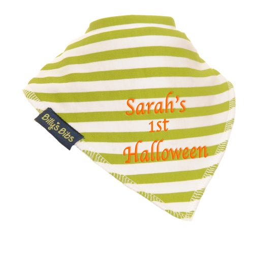 billy's bib extra absorbent HalloweeenStripe