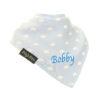personalised extra absorbent bandana bib blue small cloud
