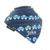 personalised extra absorbent Bandana billy's bibs Dark Blue Cars Dark Blue Cars