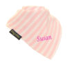 personalised extra absorbent Bandana billy's bibs Light Pink Diagonal Stripe