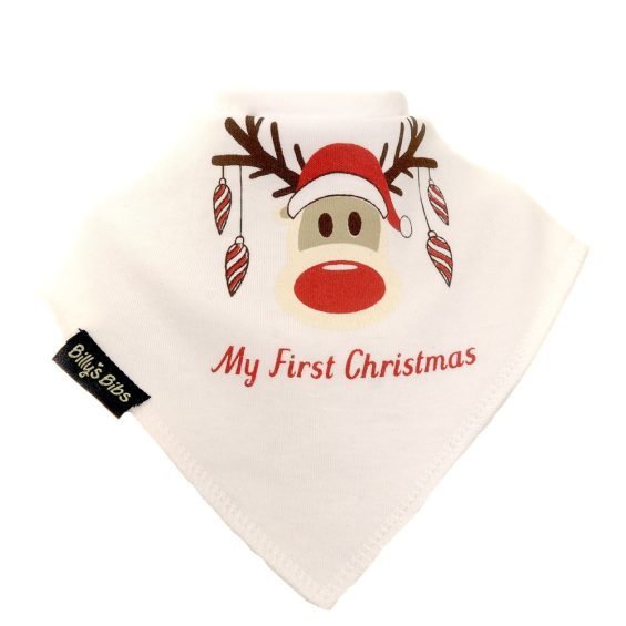 Extra absorbent billy's bibs Rudolph First Christmas