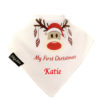 personalised extra absorbent bandana bib Rudolph First Christmas