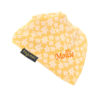 personalised extra absorbent bandana bib Yellow Flowers