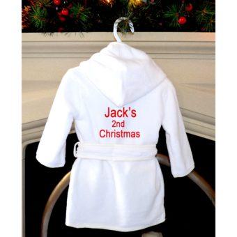 personalised Christmas robe