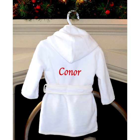 personalised Christmas robe