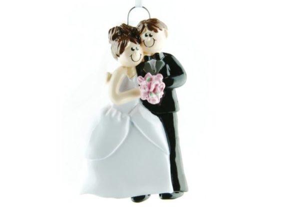 wedding couple Personalised christmas decoration