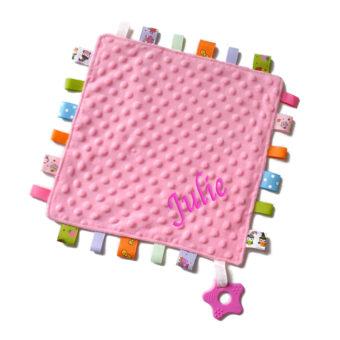 personalised Taggie Pink