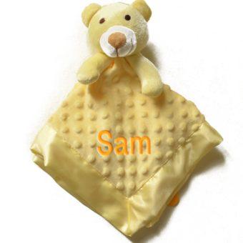 personalised Yellow Comforter