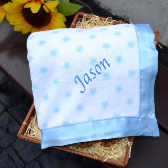 personalised Fleece star Blanket