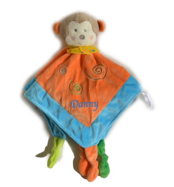 personalised monkey comforter