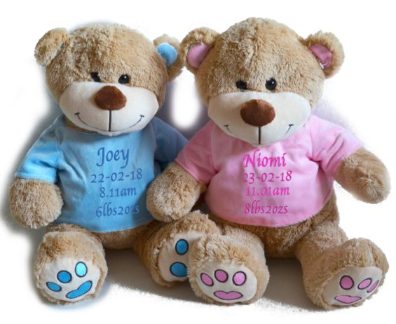 baby keepsake personalised bear