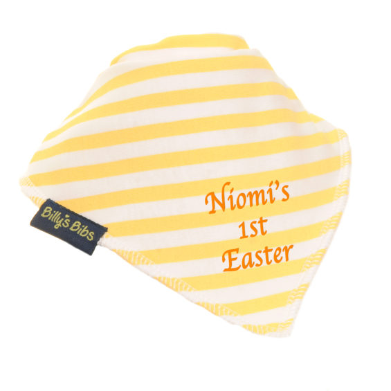 Personalised extra absorbent Easter billy's bib