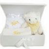 Neutral Hamper personalised bib blanket teddy