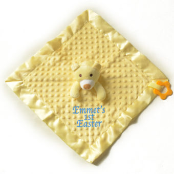 personalised Yellow Comforter 1st Easter