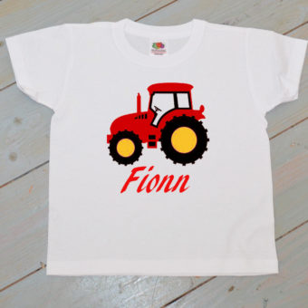 tractor white t shirt